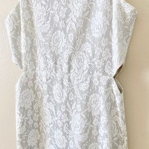 Topshop Dresses - Topshop Silver Sleeveless Cocktail Dress 6